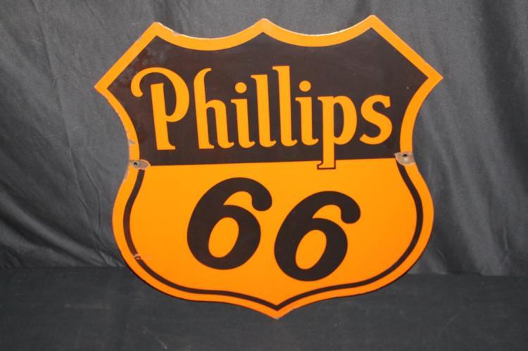 PORCELAIN PHILLIPS 66 GASOLINE OIL SIGN