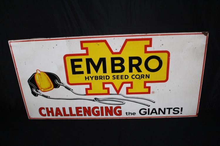 RARE EMBRO SEED CORN CHALLENGE THE GIANTS SIGN