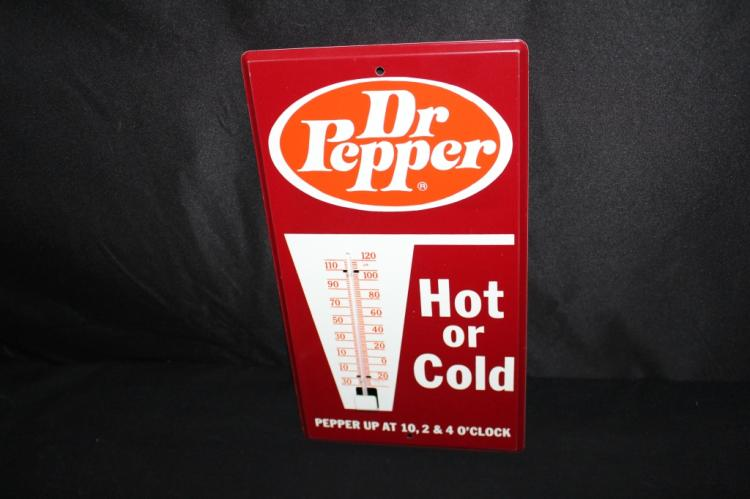 DR PEPPER HOT OR COLD THERMOMETER SIGN