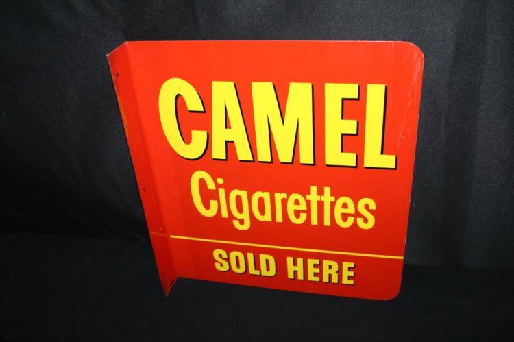 CAMEL CIGARETTES SOLD HERE FLANGE SIGN
