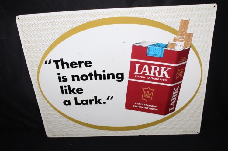 LARK CIGARETTES TIN SIGN