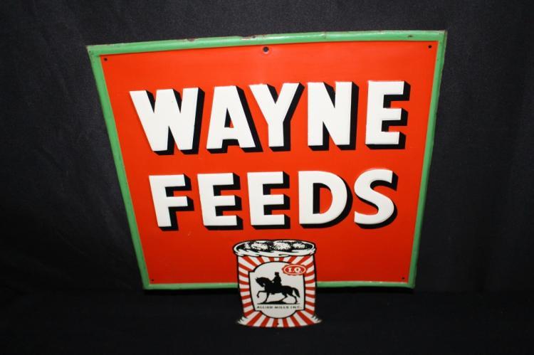 WAYNE FEEDS TIN FARM SIGN