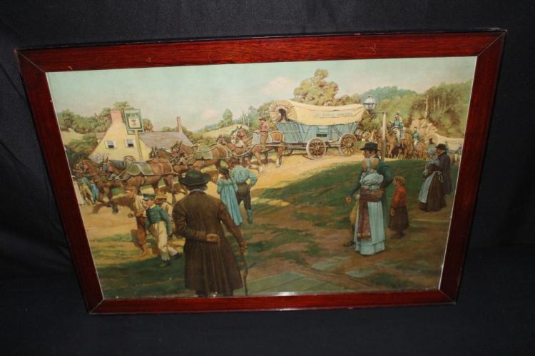 1911 DUPONT POWDERS LITHO PRINT FRAMED SIGN