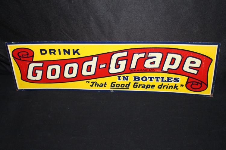GOOD GRAPE SODA POP IN BOTTLES TIN SIGN