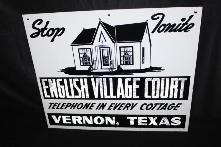 ENGLISH VILLAGE COURT COTTAGES VERNON TEXAS SIGN