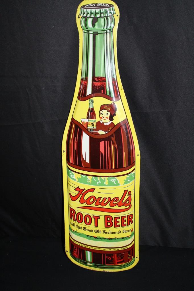 HOWELS ROOT BEER SODA POP BOTTLE SIGN