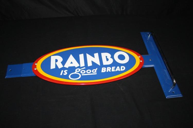 NOS RAINBO BREAD DOOR PUSH SIGN