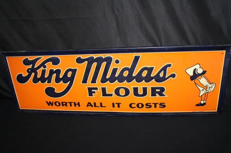 KING MIDAS FLOUR TIN SIGN