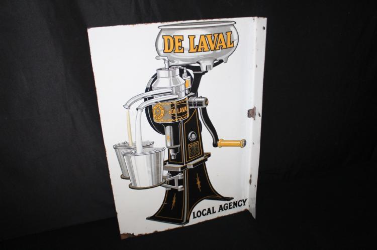 PORCELAIN DE LAVAL CREAM SEPARATORS FLANGE SIGN