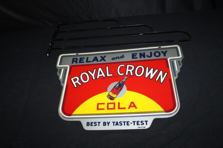 1949 RC ROYAL CROWN COLA SODA POP SIGN