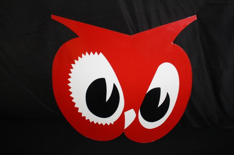 PORCELAIN RED OWL GROCERY STORE SIGN
