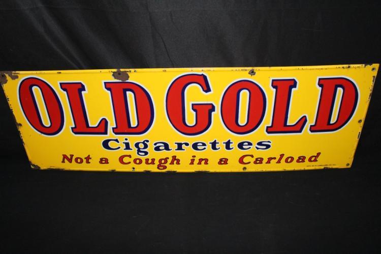 PORCELAIN OLD GOLD CIGARETTES SIGN