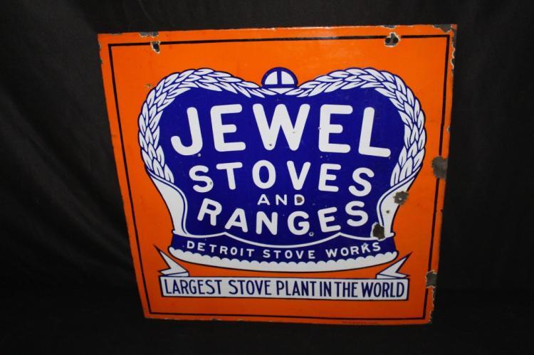 PORCELAIN JEWEL STOVES & RANGES SIGN 2 SIDED