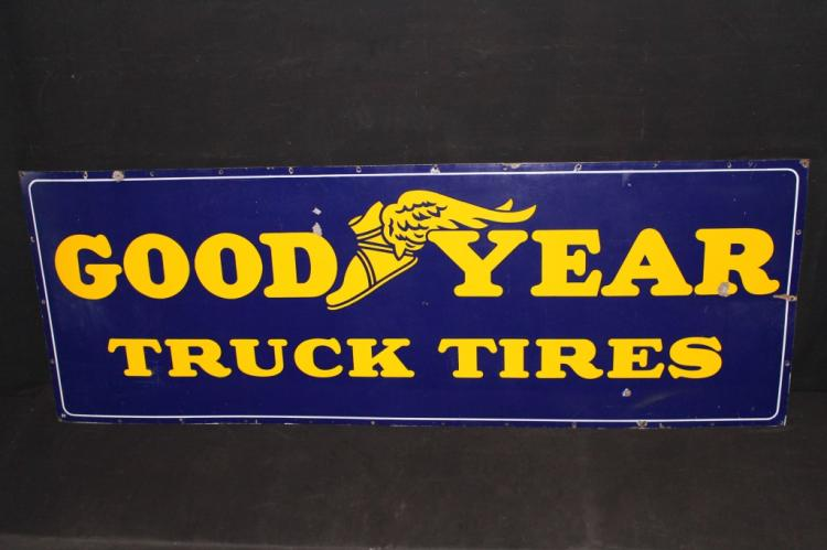 Rare Porcelain Good Year Truck Tires Sign