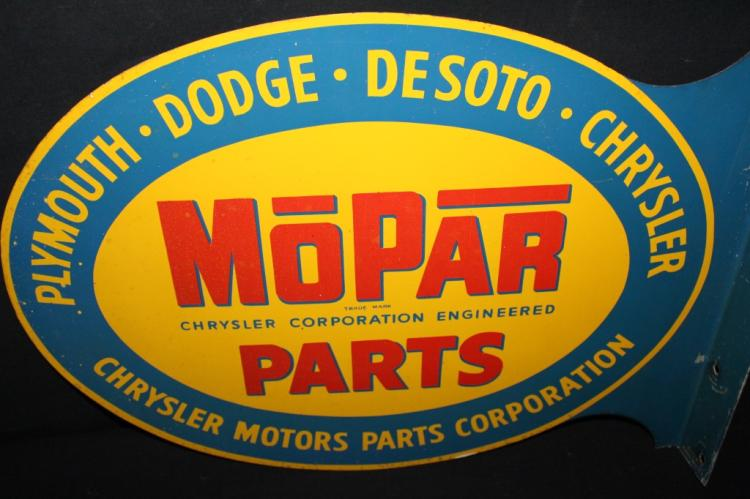 Plymouth Dodge Chrysler Mopar Parts Flange Sign