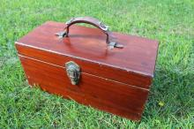 Erlee Gulfport Florida Wooden Tackle Box Fishing