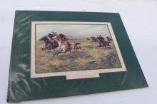 1899 US Army Cavalry Pursuing Indians Print