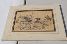 Western Cowboys & Bear Print