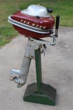 Montgomery Ward Sea King Outboard Motor & Stand