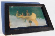 1908 Frederick Remington Birchbark Canoe Print