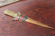 Welsbach Gas Lamp Co Tin Litho Letter Opener
