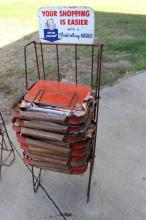 Shopping Basket Rack and Baskets