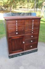 Antique Cherry or Mahogony Dental Cabinet