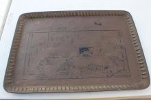 Bronze Tray Musas Rest Haven Hunting Camp