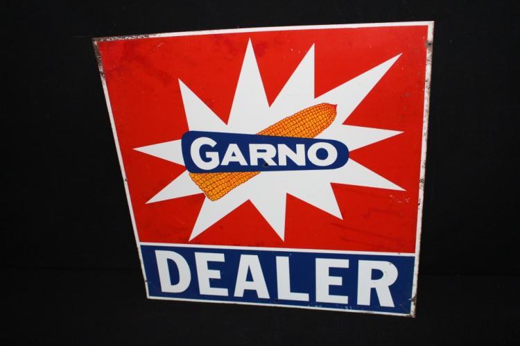 Garno Seed Corn Dealer Tin Farm Sign