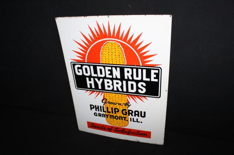 Golden Rule Hybrid Seed Corn Sign Graymont IL