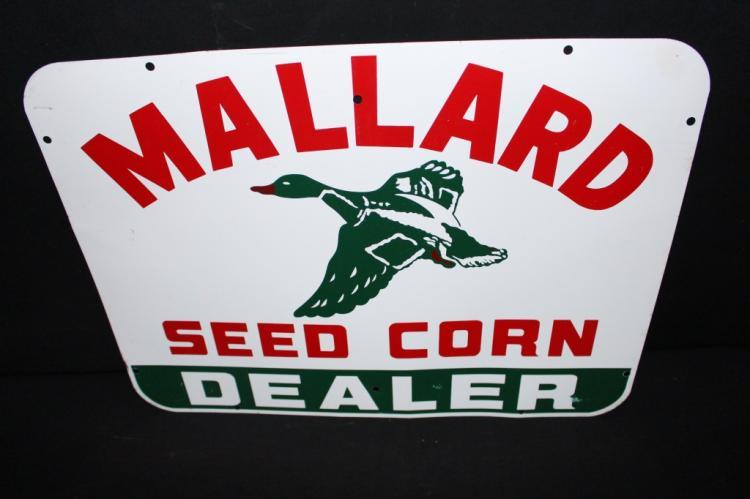 Mallard Seed Corn Dealer Farm Sign