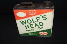 1 Gallon Wolfs Head Motor Oil Can