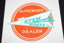 Lot 177D: TOTEM FOLDABLE BOATS TIN SIGN & LITERATURE PHOTOS