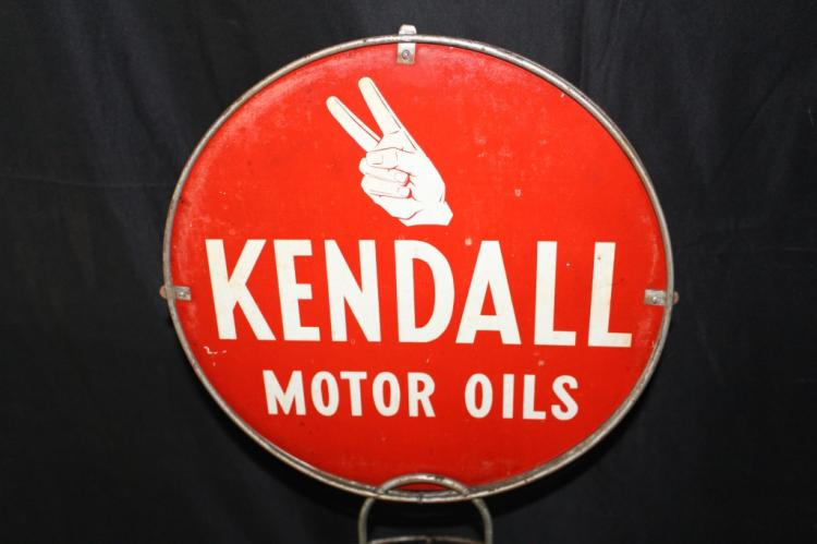 Kendall Motor Oils Oil Can Rack Sign