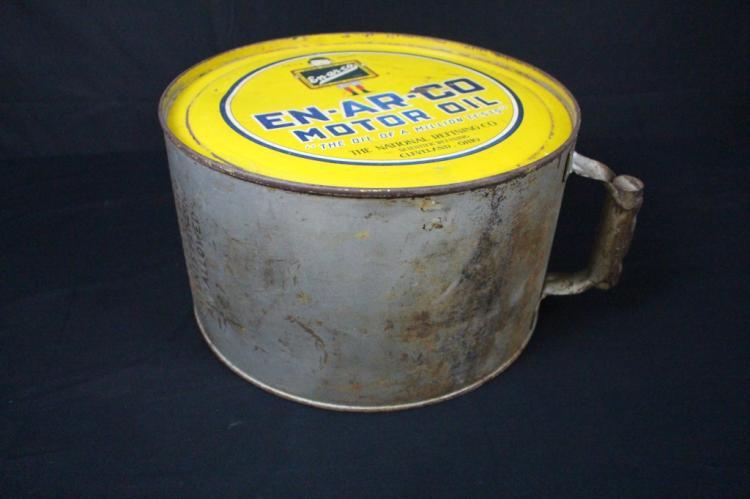 National refining enarco motor oil 5 gallon rocker for Refining used motor oil