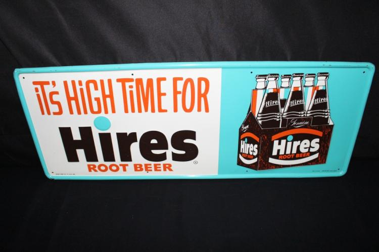 HIRES ROOT BEER 6 PACK SODA POP TIN SIGN