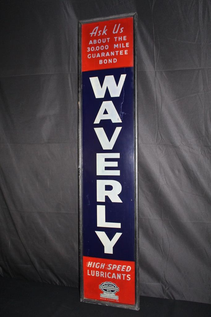WAVERLY HIGH SPEED LUBRICANTS OIL SIGN