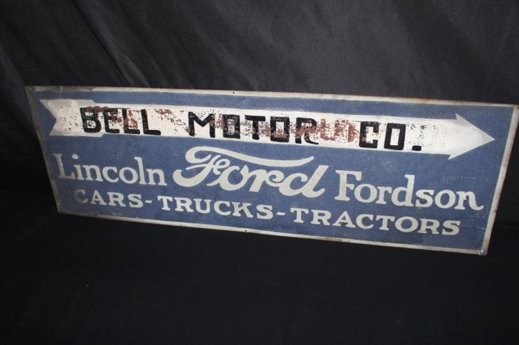 FORD LINCOLN FORDSON CARS TRUCKS TRACTORS SIGN