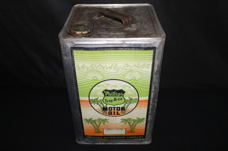 PHILLIPS 66 TROP ARCTIC MOTOR OIL 5 GALLON CAN
