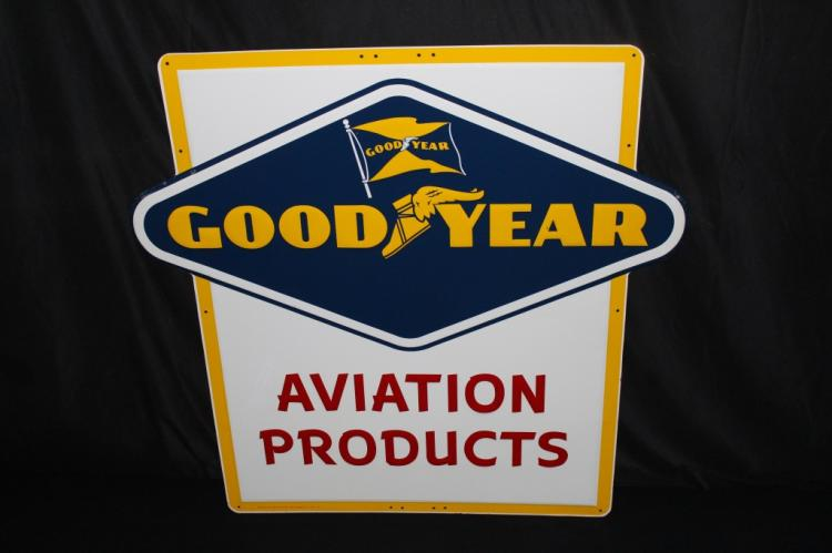 NOS GOODYEAR TIRES AVIATION PRODUCTS SIGN