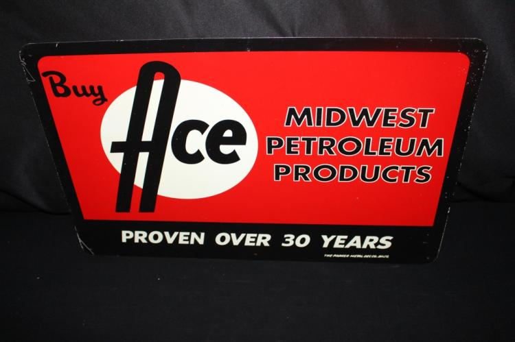 MIDWEST PETROLEUM PRODUCTS ACE HIGH OIL SIGN