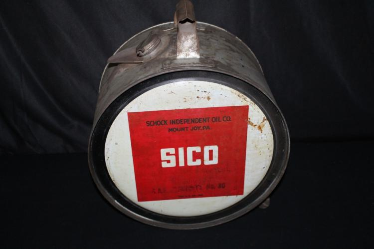SICO SCHOCK INDEPENDENT OIL CO 5 GAL ROCKER CAN