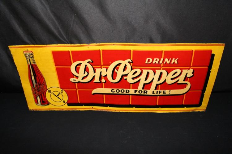 DRINK DR PEPPER GOOD FOR LIFE SODA POP TIN SIGN