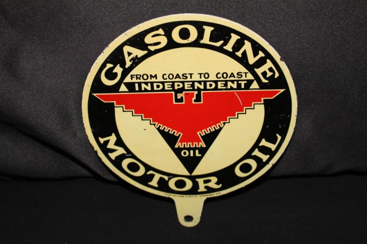 RARE INDEPENDENT GASOLINE MOTOR OIL LUBESTER SIGN