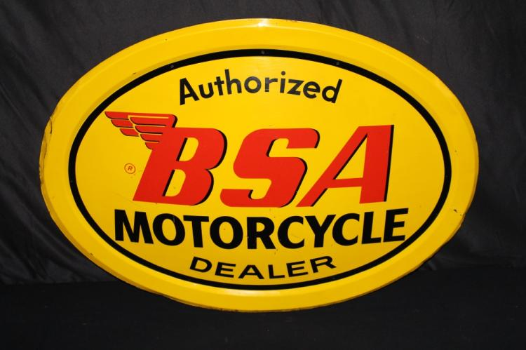 AUTHORIZED BSA MOTORCYCLE DEALER CONVEX SIGN