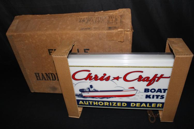 RARE NOS CHRIS CRAFT BOATS LIGHTED SIGN