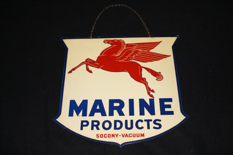 RARE SOCONY VACUUM MOBIL MARINE PRODUCTS SIGN