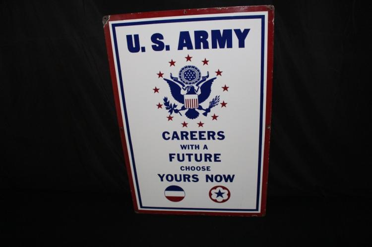 PORCELAIN US ARMY AIR FORCE RECRUITING SIGN
