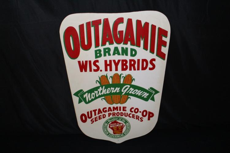 NOS OUTAGAMIE WISCONSIN HYBRID SEED CORN SIGN