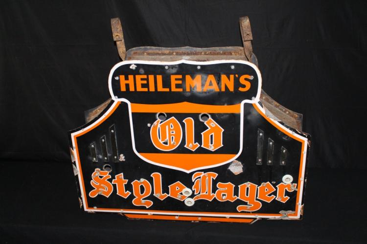 PORCELAIN HEILEMANS OLD STYLE LAGER BEER NEON SIGN